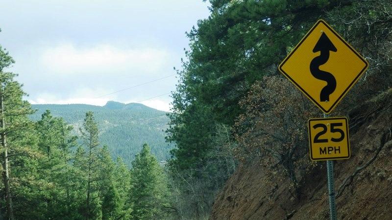 Voilà le genre de route qui m'attend !