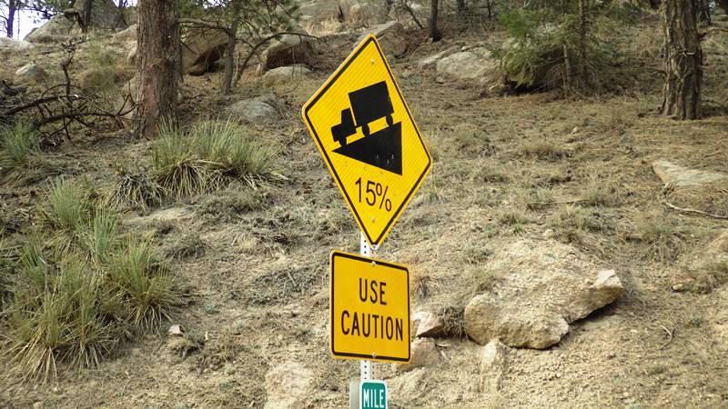 Une route en bon état mais assez tortueuse !