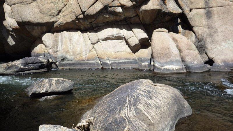 Les courants typiques d'Eleven miles canyon