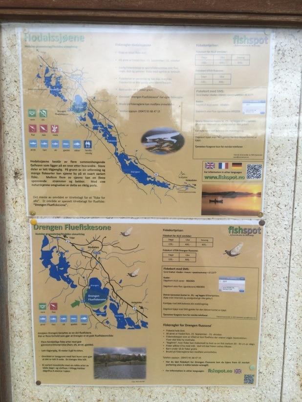Carte des différents lacs
