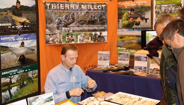 Igor Stancev, sur le stand Planet Fly Fishing